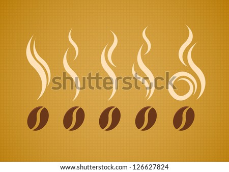 vector set of coffee beans with