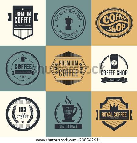 Coffee Shop Logo Vector Vector Set of Coffee Shop