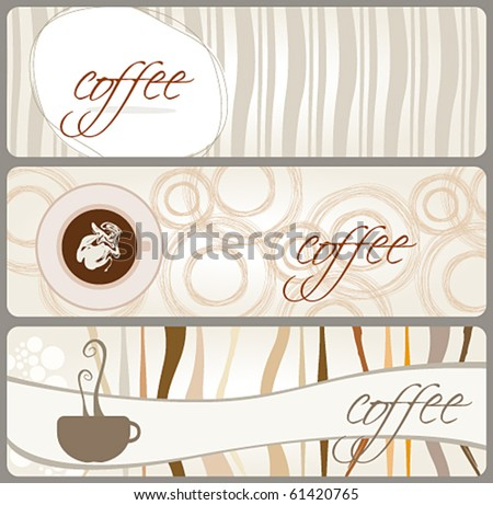 Vector set of coffee themed banners
