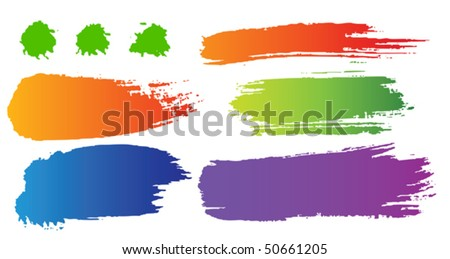 Vector set of color blots