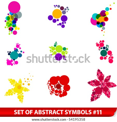 Vector Set Of Colored Abstract Symbols - 54195358 : Shutterstock