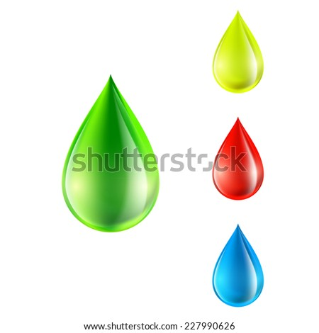 vector set of colored drops