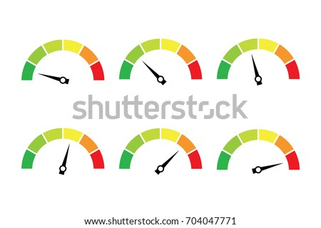 vector set of colored gauges