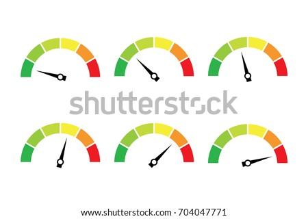 vector set of colored gauges