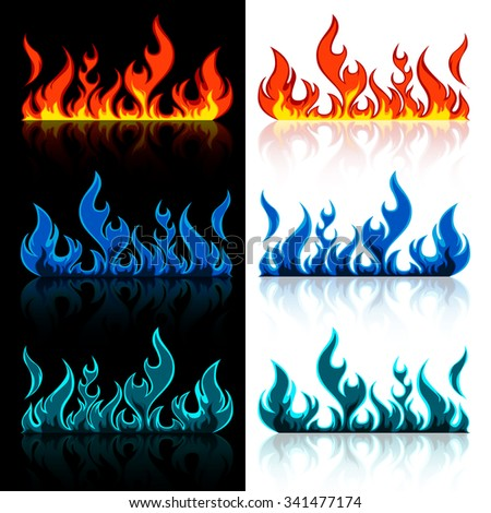 vector set of colored red  blue