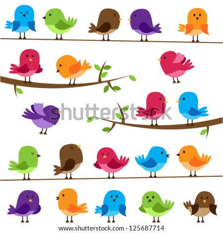 vector set of colorful cartoon