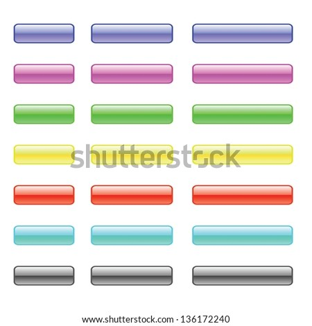 Vector Set of Colorful Glass Buttons for Your Design