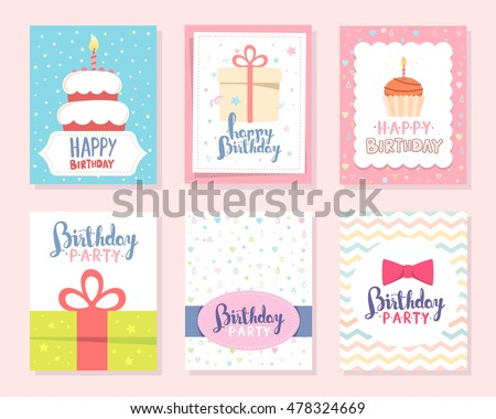 simple happy birthday greeting design download vetores e gráficos