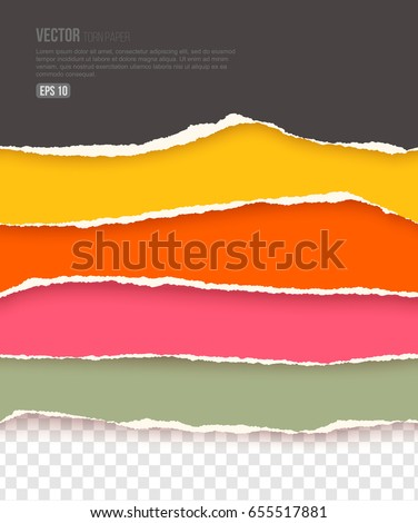 vector set of colorful torn