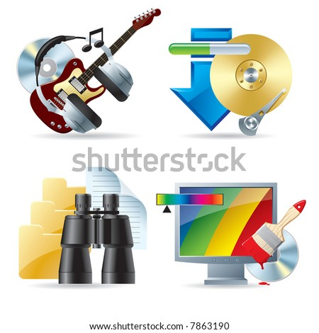 Vector set of computer & web icons III
