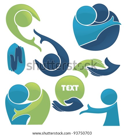 vector set of conversation, love and communication