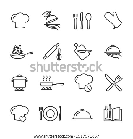 Vector set of cooking line icons. ストックフォト ©