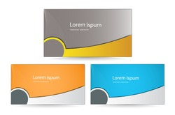 vector set of corporate business card template