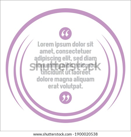 Vector set of Creative quote text template. Quote blank template. Quote bubble. frame of quotes. Print design. Quote form. Template vector set.