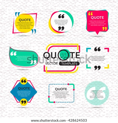 vector set of creative quote