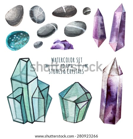 vector set of crystals in