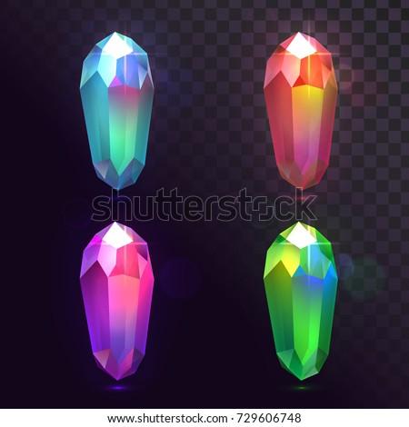 vector set of crystals  magic