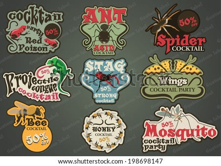 vector set of custom insect and