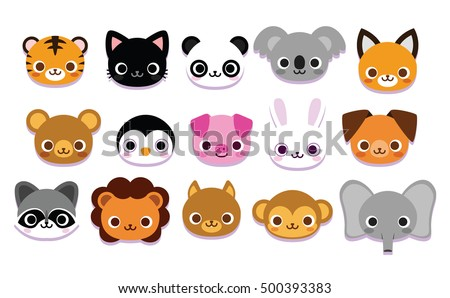 vector set of cute cartoon