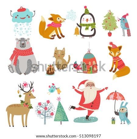 vector set of cute characters