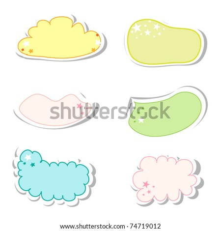 Vector set of cute frames in bright color