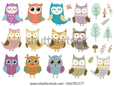 vector set of cute isolated
