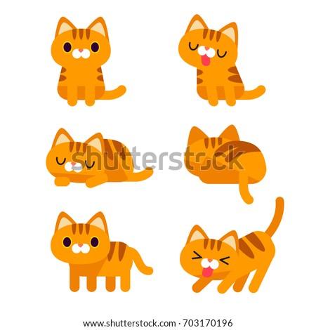 vector set of cute orange short