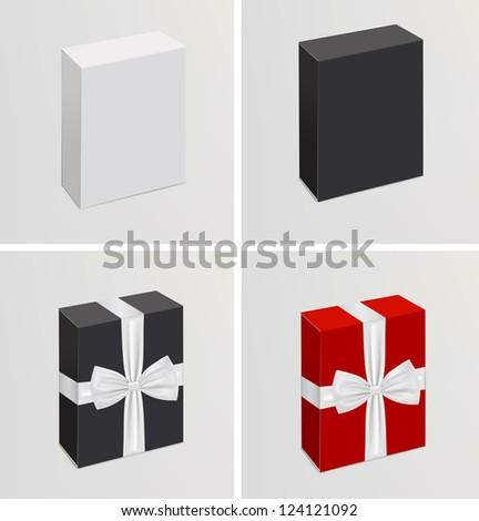 Vector set of 3d realistic branding templates