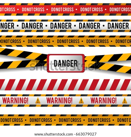 vector set of danger and police ...