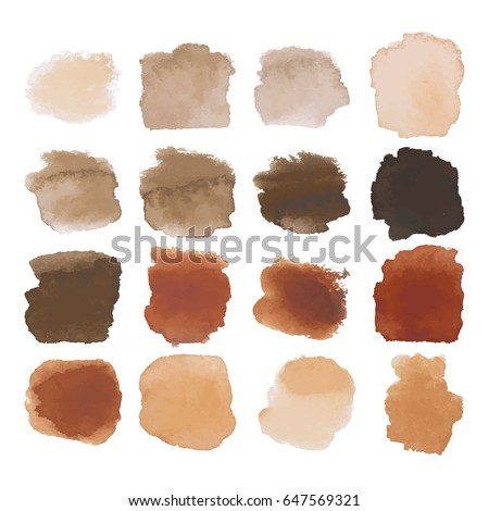 vector set of dark brown
