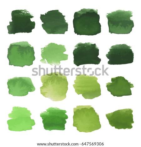 vector set of dark green