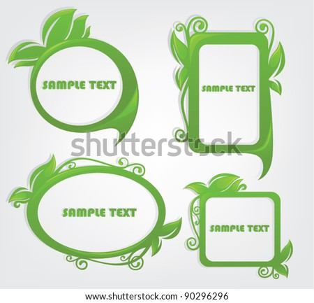 vector set of decorative floral frames