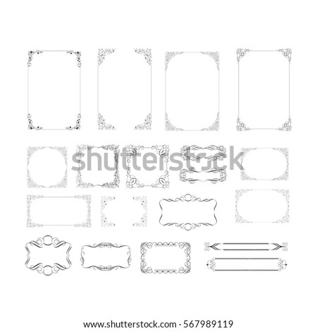 Vector set of Decorative frames.