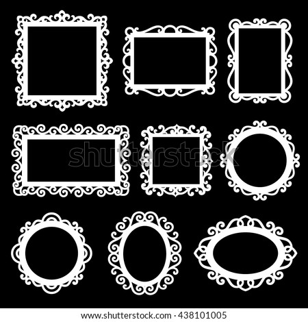 Vector set of decorative ornamental frames.