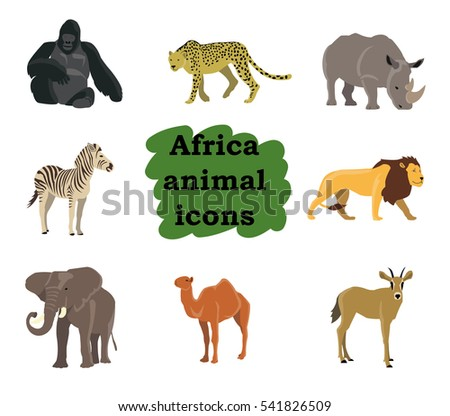 Vector set of different animals