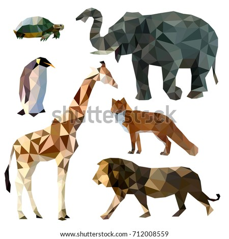 vector set of different animals