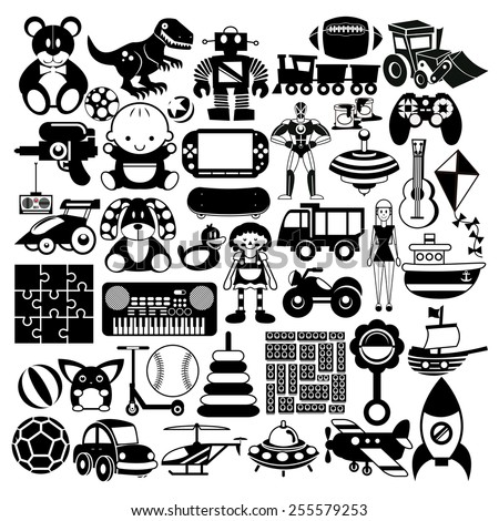 vector set of different black
