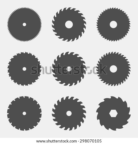 vector set of different black