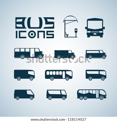 Vector set of different bus