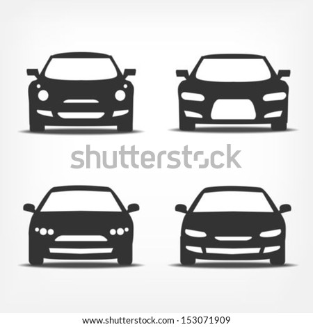 vector set of different car