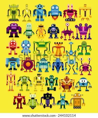 vector set of different cartoon