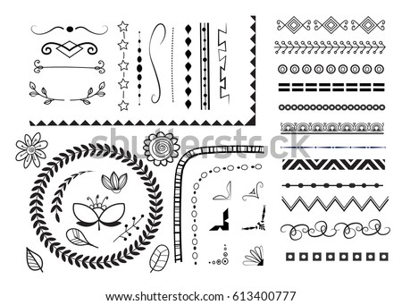vector set of different decorative elements.