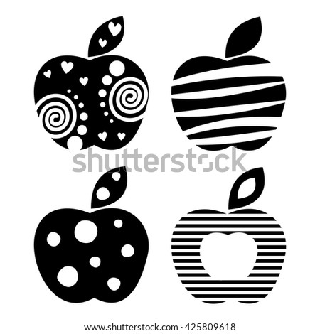 vector set of different fruits