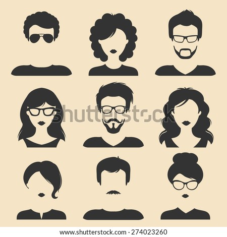 vector set of different male