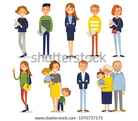 Vector set of different people
