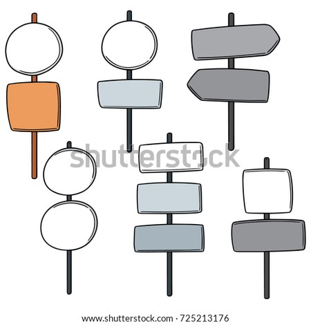 vector set of direction post #725213176