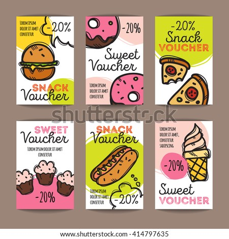 vector set of discount coupons