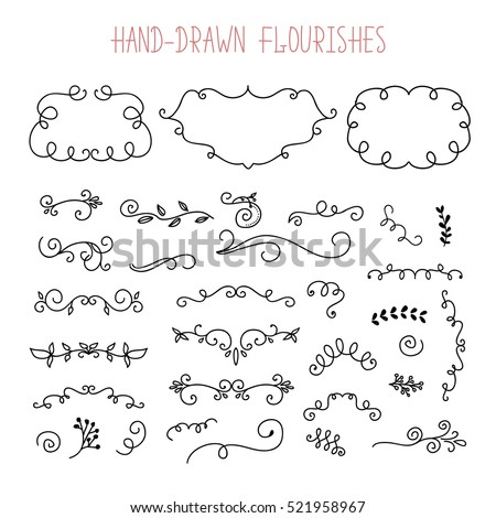 vector set of doodle frames and