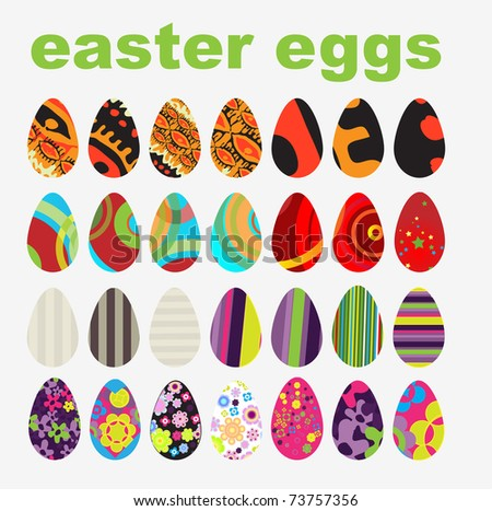 Vector set of Easter Eggs #73757356
