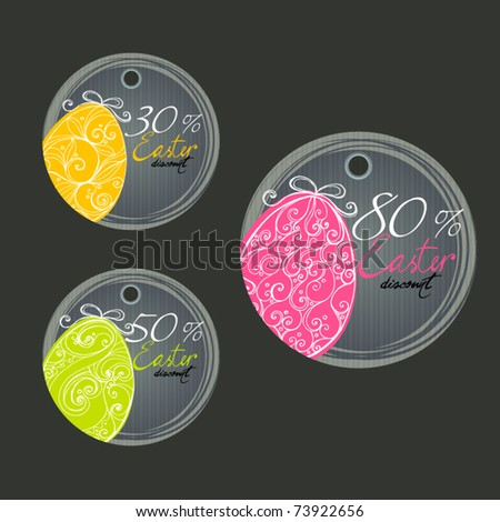 vector set of Easter price tags